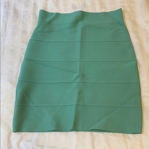BCBG Maxazria Mint Bandage Skirt